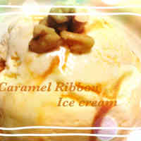 Easy Caramel Ribbon Ice Cream