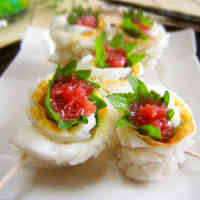 Refreshing Chikuwa Rolls with Umeboshi and Shiso Leaves