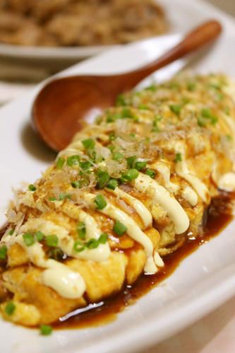 Easy and Cheap Okonomiyaki-style Natto Omlette