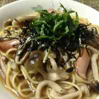 Japanese-Style Mushroom Soup Pasta in 10 Minutes