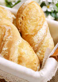 Easy Small Sized Soft Baguettes*Using a Bread Maker