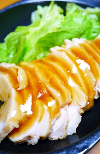 A Summertime Dish! Light Simmered Chicken Breast Tenderized with Vinegar