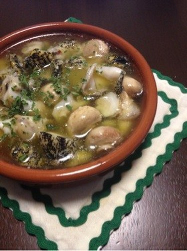 Easy☆Whelks and Mushroom Ajillo