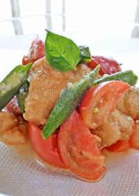 Italian Nanban-style Chicken Tenders & Okra