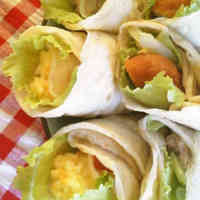 Fluffy Tortilla Style Wraps with Only 2 Ingredients