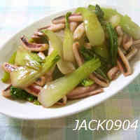 Easy Side Dish♪ Bok Choy and Squid Salt Stir-fry
