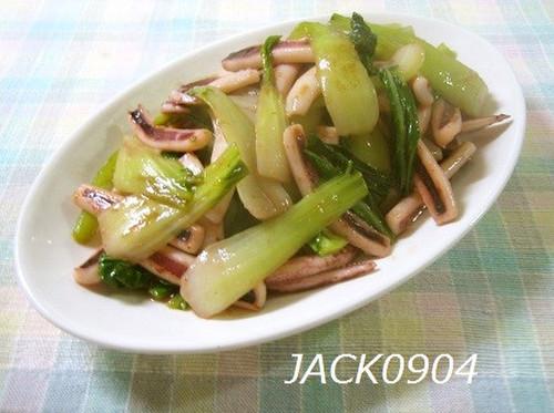 Easy Side Dish♪ Bok Choy and Squid Salt Stir-fry