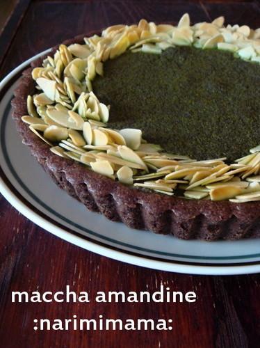 Matcha Chocolate Amandine Tart