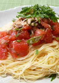 Delicious Tomato and Tuna Chilled Pasta