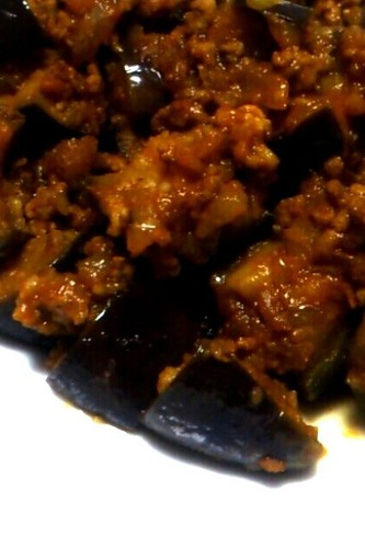 Eggplant & Mince Meat Curry Stir-Fry