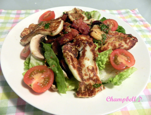 Halloumi Cheese & Chorizo Salad
