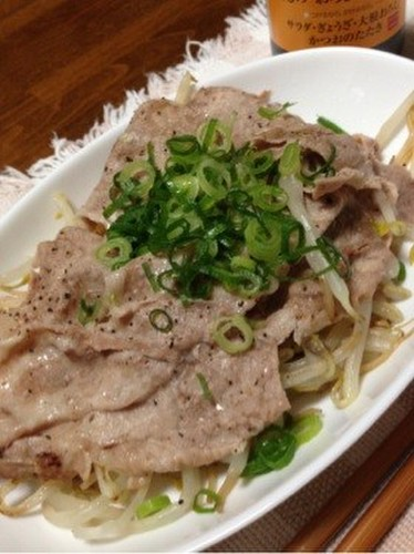 Money Saving & Low Calorie! Steamed Pork and Bean Sprouts