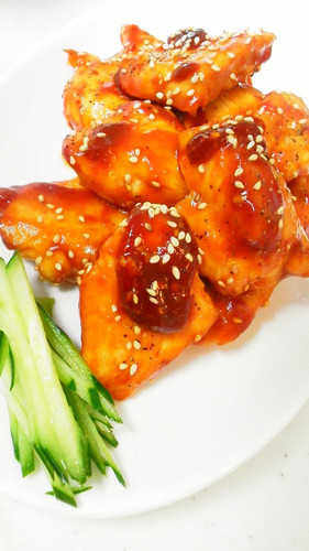 Teriyaki Chicken Breast with Sweet and Sour Ketchup Sauce