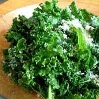 Very Nutritious and Very Easy Kale & Cheese Salad