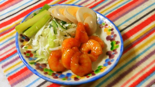 Simple Chili Shrimp with Boiled Shrimp