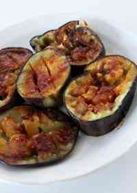 Summer Eggplant with Soy Sauce Malt and Ketchup Sauce