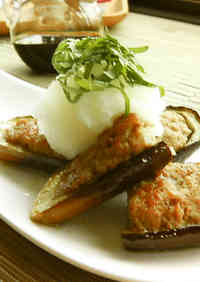 Japanese-Style Stuffed Eggplants