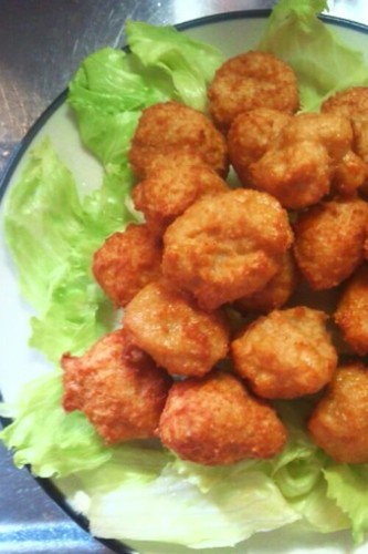 Easy and Economical Karaage-kun Made From Ground Chicken and Tofu