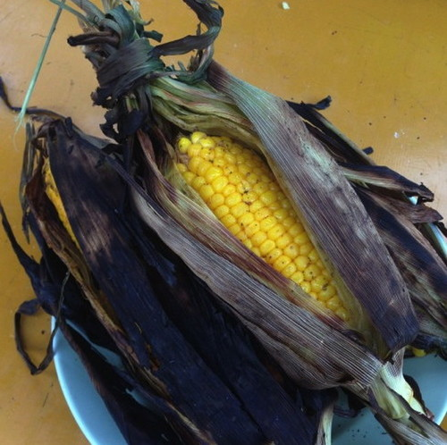 BBQ Corn on the Cob with Husks