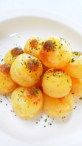 Imitation Crab and Potato Balls