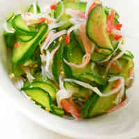 Chinese-style Cucumber and Imitation Crab in Vinegar Sauce