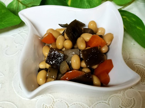 Easy Basic Five-Ingredient Simmered Beans (Gomoku Mame)