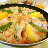 Outdoor Cooking Recipe - Chicken Drumettes Paella