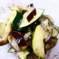 Easy Aubergine and Zucchini Namul