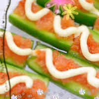 Mentaiko Mayonnaise Cucumber Boats