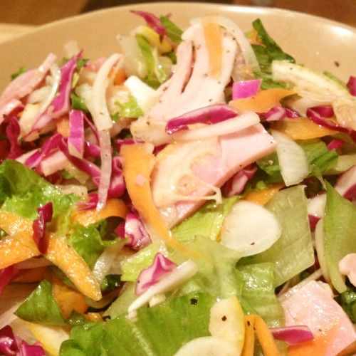 Ham and Red Cabbage Salad