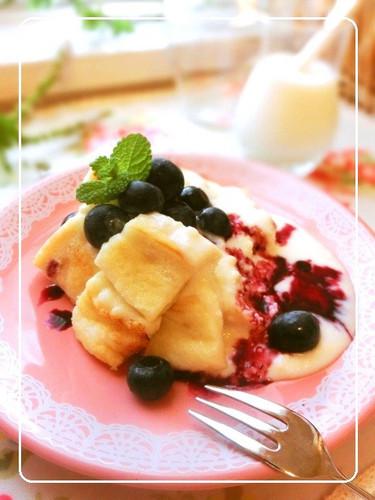 Fluffy Cream Cheese Pancakes