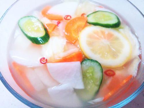 Radish and Pear Mul (Water) Kimchi