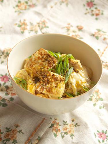 Silken Tofu and Egg Rice Bowl