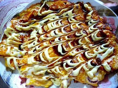 Flour-free Ikayaki Savory Squid Pancake