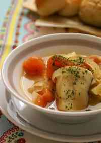 Cod, Potato and Tomato Soup