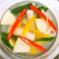 Daikon Radish and Cucumber Mul (Water) Kimchi