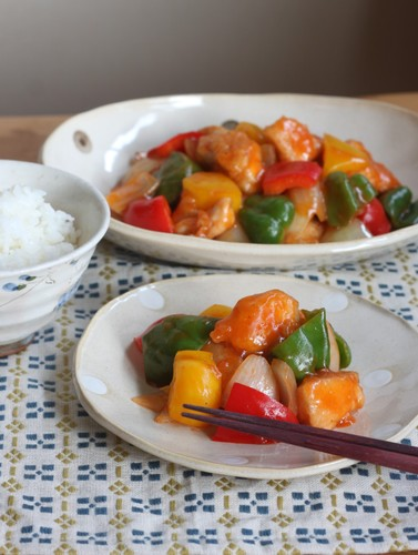 Simple Non-Deep Fried Sweet and Sour Chicken