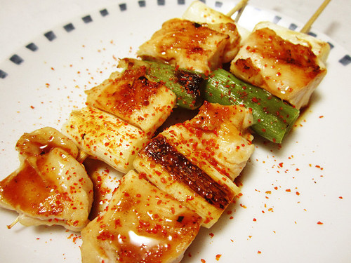 Chicken Breast Yakitori in a Frying Pan
