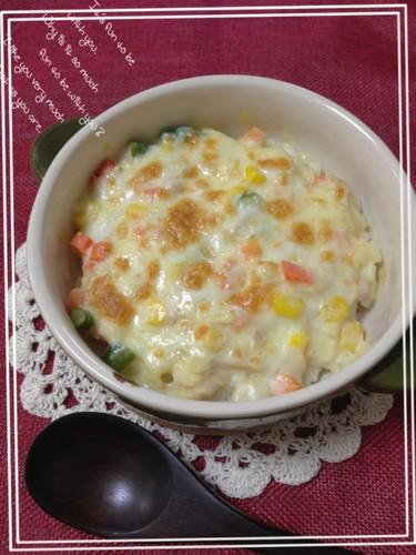 Simple Mochi and Tuna Doria with Mayo Miso Sauce