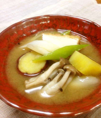Hearty Miso Soup with Fall Vegetables