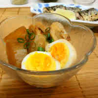 Easy Simmered Daikon Radish and Soft Boiled Eggs