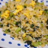 Japanese-Style Fried Rice with Chirimen Jako and Nozawana
