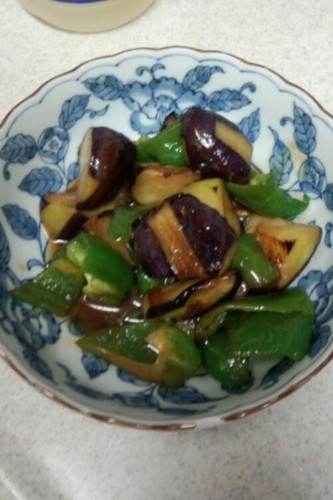 Eggplant & Green Pepper with Sweet Miso