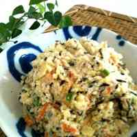 Healthy Potato Salad with Okara and Hijiki Seaweed