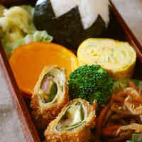 Mt Fuji Bento--Pork with Wasabi Deep-Fried Wraps