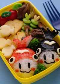 Goldfish Character Onigiri Bento -  For My Growing Son