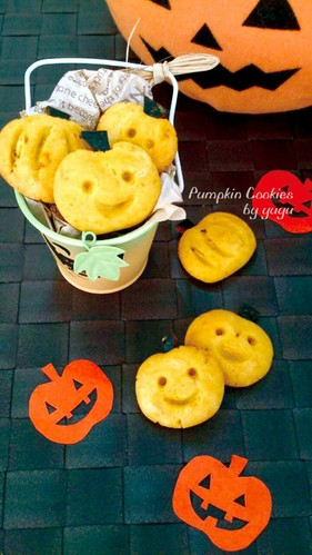 Simple Kabocha Cookies for Halloween