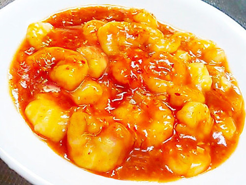 Shrimp Simmered In Chili Sauce (Low-Calorie Chinese)