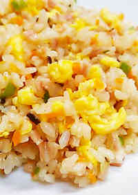 Crumbly Fried Rice in a Rice Cooker