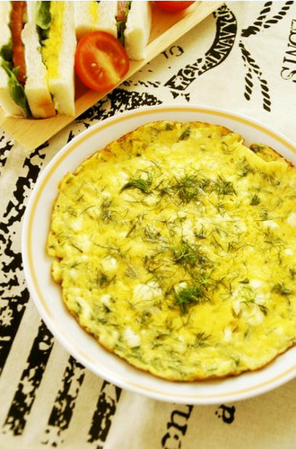 Dill & Cottage Cheese Frittata
